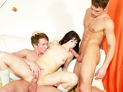 Horny school student fuckin' at B-day party