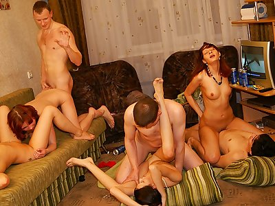 Splendid and red-hot student party fuckfest video