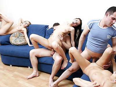 Badass college women throw a super-naughty sex party