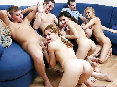 Fully mind-blowing college girl party bang-out movie