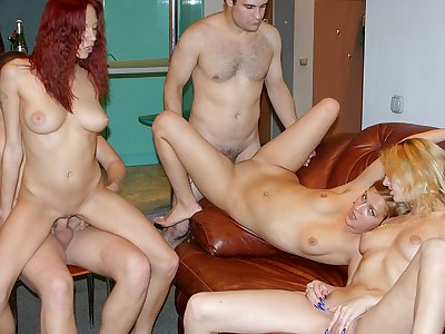 Really crazy party porno with a red-haired hottie