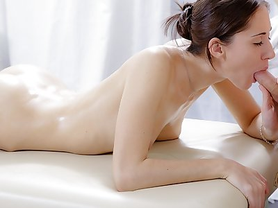 Xxx massage flick of nice dark-haired fucked in the butt